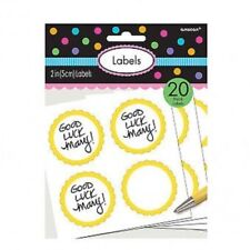 20 Candy Buffet Sunshine Yellow Scalloped Edge Favour Labels~FREE SHIPPING