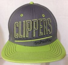 Rare Columbus CLIPPERS MLB Official SnapBack Hat Cap Neon & Grey