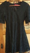 Stunning BOOHOO ladies little black lace dress (size UK 8)
