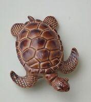 Vintage Turtle Brooch enamel on metal