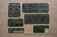 M38 JEEP BRASS DATA PLATES SET WILLYS MC G-740 M 38 M38A1 M170