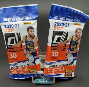 2X -2020-21 NBA Donruss Cello Fat Pack Sealed 30 Cards -Exclusive Holo Parallels