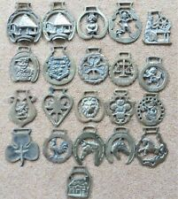 21 vintage horse harness brass various themes collectible decoration pub theme