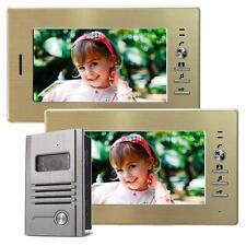 Video a colori interfono türsprechanlage IR Visione Notturna 2 monitor 7 pollici