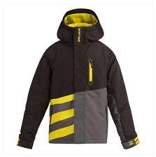 2016 NWT YOUTH BOYS BILLABONG SLICE BOY SNOWBOARD JACKET $125 12 black grey logo