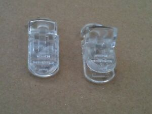 Clear Plastic Badge Clips for making Dummy Clips/Straps, ETC