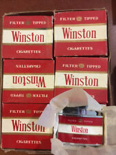 VINTAGE WINSTON CIGARETTE LIGHTERs IN ORIGINAL BOX ONE DOZEN