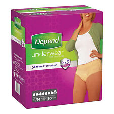 Depend Female Comfort - Protect Underwear - 60 Pants - S-M Incontinence Aids