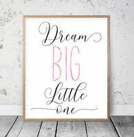 Traum Groß Little Eine , Kinderzimmer Bedruckbar Wandkunst, Mädchen Dekor Drucke