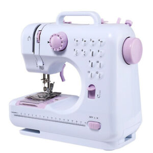 Electric Overlock Sewing Machine Small Household Sewing Tool 2 Speed 12 Stitches