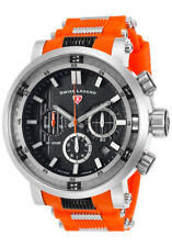 Swiss Legend Dragonet Men's Chronograph Orange Silicone NIB $695 SL-138385SM-OAS