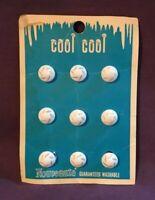 """*Vintage NOUVEAUTE Buttons on Original Card Set of Nine 1/2"""""""