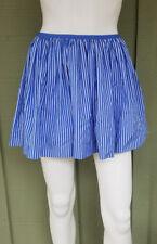 POLO Ralph Lauren Girls Blue Striped Cotton Skirt L 12-14
