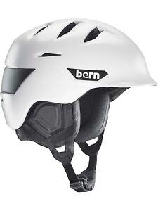 NEW Bern Mens Rollins Helmet With Zipmold Foam Helmet White
