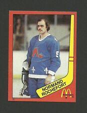 Normand Rochefort Quebec Nordiques #35 1982-83 McDonald's Hockey Sticker NM