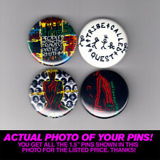 "A TRIBE CALLED QUEST - 1.5"" PINS / BUTTONS (gig poster badge lp qtip phife dawg)"