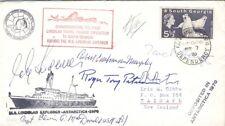 South Georgia 1970 cover ship MS Lindblad Explorer sign Antarctica expedition