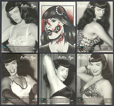 BETTIE PAGE PRIVATE COLLECTION X-RAY PRISM CARD SET w/ CK & ZOMBIE CHASE #0