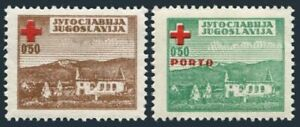 Yugoslavia RA5,RAJ2 2 sets,MNH. Postal Tax,Due 1947.Red Cross.Ruined Dwellings.