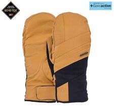 POW ROYAL GTX Gore-Tex Snowboarding Skiing Mitts Natural Leather Mens Large