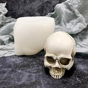 3D Skull Candle Molds Silicone Mold DIY Halloween Funny Resin Making Tool Moulds