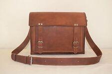 """13"""" Macbook Air Pro Leather Messenger Bag, Real Leather Messenger Shoulder Bag"""