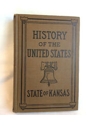 History Of The United States  E.G. Foster  Hardcover Book EVC Signed 1924 Kansas
