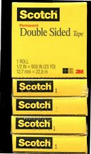 6 ROLLS OF SCOTCH 665 DOUBLE SIDED TAPE REFILL