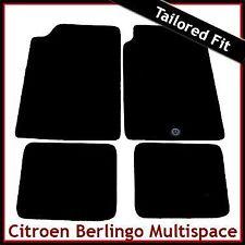 Citroen Berlingo Multispace Mk1 1996-2007 1-Clip Tailored Carpet Mats BLACK