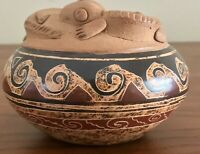 San Vicente Guanacaste Costa Rica Signed Pottery 2 Lizard Rimmed Bowl
