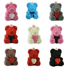 Valentin's Romantic Rose Flower Teddy Bear Gift The Day Of Love Free Shipping