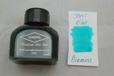 Diamine 80ml Fountain Pen Bottled Ink Steel Blue