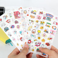 New 6 sheets rabbit's holiday calendar diary notebook DIY Photo album sticker