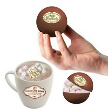 2 BELGIAN Hot Chocolate & Marshmallow Bombs with Chocolate Merry Christmas