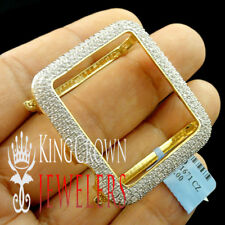 High Quality Real Yellow Gold Silver Apple Watch Bezel Series # 3 Diamond Case