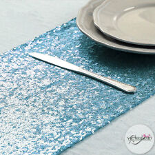 275x30cm Tiffany Blue Sequin Table Runner Wedding Christmas Party Decorations