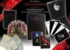 madera lackbox leatherbook Hellraiser Trilogía 1 2 3 Sin Cortes LIMITED BLU-RAY