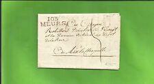 Preußen / 103 / MEURS roter Dep.-L2 a. Luxus-Brief m. rs. hübschem Siegel-Stpl.