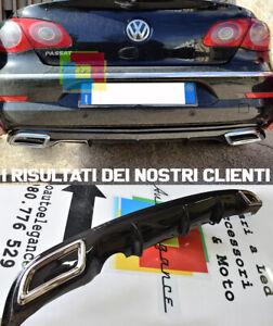SOTTO PARAURTI POSTERIORE - VW PASSAT CC DIFFUSORE TERMINALI OVALI IN ABS