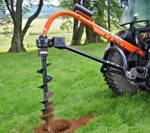 Tractor Mounted PTO Hole Borer with Augers by Rock Machinery