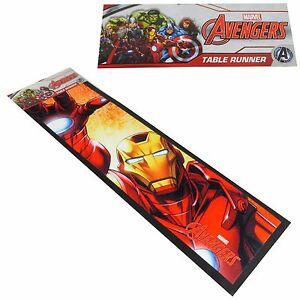 Marvel Avengers IRON MAN BAR/TABLE RUNNER Non-slip Glass Towel Table Mat NWT