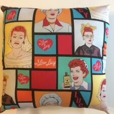 NEW LUCILLE BALL I LOVE LUCY SCENES FROM TV SHOW COMEDIAN COMPLETE THROW PILLOW