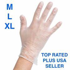100 PCS DISPENSER BOX Powder-Free Latex-Free VINYL GLOVES Non-Sterile - M, L, XL