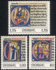 Norway 1977 Christmas/Greetings/Bible/Miniatures/Art/Paintings/Painter 3v n44872