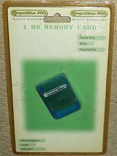 PLAYSTATION 1 PS1 PSOne 1 MB tarjeta de memoria de 15 Bloque Nuevo! tarjeta MEM 1 MB Azul