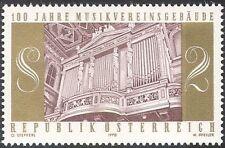 """Austria 1970 """"Musikverein"""" Building 100th/Organ/Music/Instruments 1v (n42833)"""