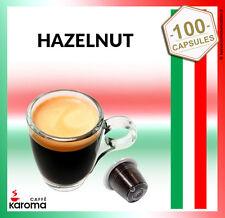 100 Karoma capsules Compatible Nespresso Machines ( Hazelnut)