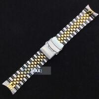 Golden CURVED Link OYSTER Genuine BRACELET Clasp For S EIKO SKX007 SKX009 SKX011