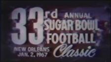 1967 Sugar Bowl Football DVD Alabama vs Nebraska STABLER HOMAN  Free Shipping