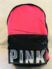 VICTORIA SECRET PINK BLING CAMPUS BACKPACK / TRAVEL TOTE /GYM BAG NEON HOT PINK